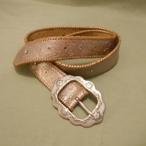 "Fossil Leather ""Princess"" Belt S Embellished"